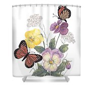 Little Heartsease Shower Curtain