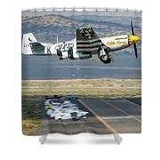 Little Horse Gear Coming Up Friday At Reno Air Races 16x9 Aspect Shower Curtain