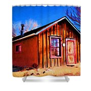 Little House In Lincoln Shower Curtain