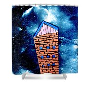 Little House In The Cosmos Shower Curtain
