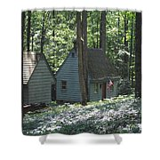 Little House In The Woods Shower Curtain