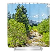Little House On The River Shower Curtain