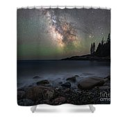 Little Hunters Cove At Night Shower Curtain