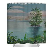 Little Island Shower Curtain