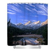 Little Lakes Valley Panorama Shower Curtain