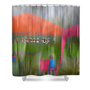 Little League Football Shower Curtain
