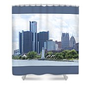 Little Lighthouse In The City Shower Curtain