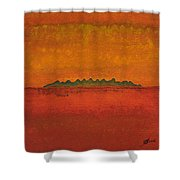 Little Needles Original Painting Shower Curtain