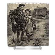 Little Nell And Her Grandfather  Shower Curtain