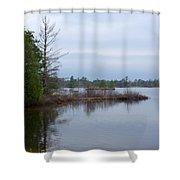 Little Peninsula Shower Curtain