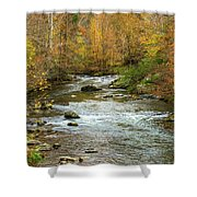 Little Pigeon River In Fall Smoky Mountains National Park Shower Curtain