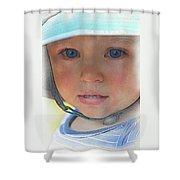 Little Pilgrim Myles Alden At 1yo Shower Curtain