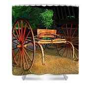 Little Red Buggy Shower Curtain