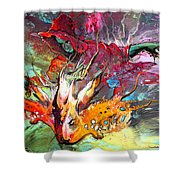 Little Red Dragonmaker Shower Curtain