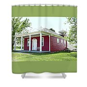 Little Red Schoolhouse, Council Grove Shower Curtain