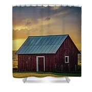 Little Red Shed Shower Curtain