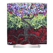 Little Red Tree 2 Shower Curtain