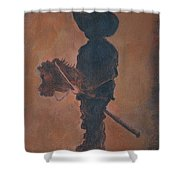 Little Rider Shower Curtain by Leslie Allen