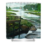 Little River Gloucester Study Shower Curtain