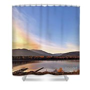 Little River In The Fall Shower Curtain