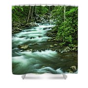 Little River Tremont Area Of Smoky Mountains National Park Shower Curtain