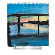Little River Waterfront Shower Curtain