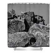 Little Round Top Gettysburg Shower Curtain
