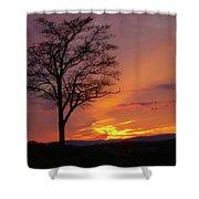 Little Round Top Sunset Shower Curtain