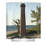 Little Sable Point Light Shower Curtain