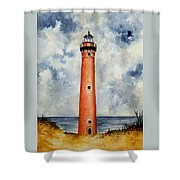 Little Sable Point Lighthouse Shower Curtain
