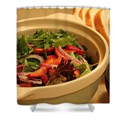 Little Salad Little Wine Shower Curtain