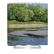 Little Sioux Sandbar Shower Curtain