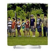 Little Soldiers Shower Curtain