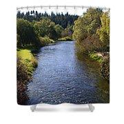 Little Spokane River Shower Curtain
