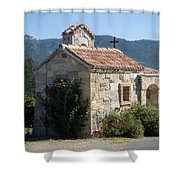 Little Stone Chapel In Vineyards Of Napa Valley Shower Curtain