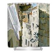 Little Street In Dubrovnik Shower Curtain