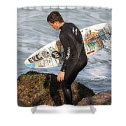 Little Surfer Dude Shower Curtain
