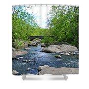 Little Unami Creek - Pennsylvania Shower Curtain