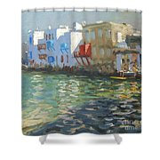 Little Venice Mykonos Shower Curtain