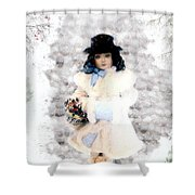Little Visitor Shower Curtain