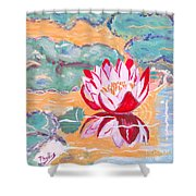 Little Water Lilly  Shower Curtain