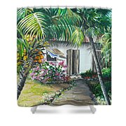 Little West Indian House 2...sold Shower Curtain