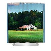Little White Barn Shower Curtain