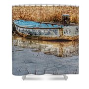 Little Wooden Boat Shower Curtain