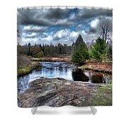 Big Woodhull Creek Shower Curtain