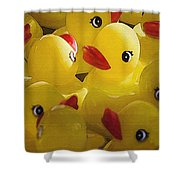Little Yellow Duckies Shower Curtain