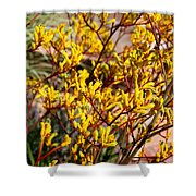 Little Yellow Flowers Shower Curtain