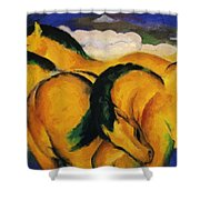 Little Yellow Horses 1912 Shower Curtain