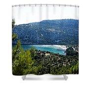 Livadi Beach On Thassos Island Shower Curtain