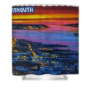 Live Eye Over Dartmouth Ns Shower Curtain